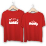With my Honey on the Moon Couple T-Shirts