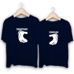 Together forever Hand Heart Couple T-Shirts