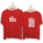The Boss and The Real Boss Couple T-Shirts