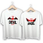 Devil with her Angel Couple T-Shirts