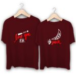 Love you to the moon and back Couple T-Shirts