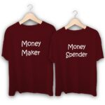 Money Maker and Money Spender Couple T-Shirts