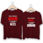 We are proud husband and wife Couple T-Shirts