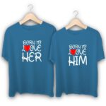 Born to love Him Born to love Her Couple T-Shirts