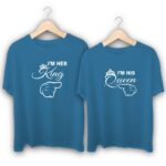 I am Her King I am His Queen Couple T-Shirts