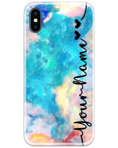 Colorful Sky Slim Case Cover with Your Name