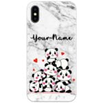Cute Panda Slim Case Cover with Your Name