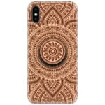 Mandala Design Circle Slim Case Cover with Your Name Pop Grip