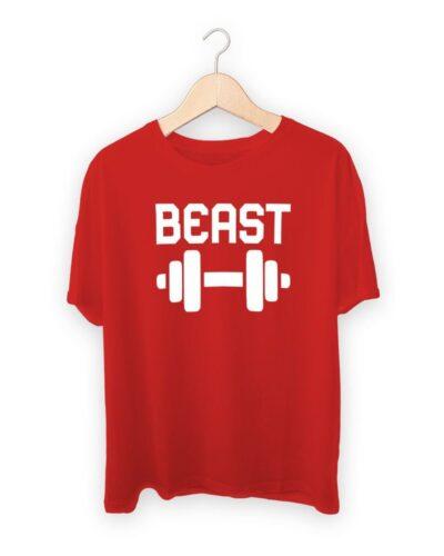 Beast Dumbbell Gym Workout T-shirt