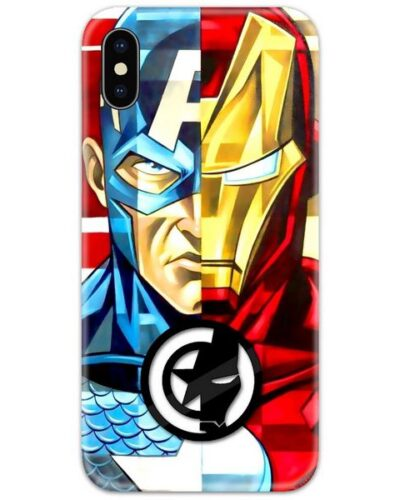 Captain America vs Ironman Artwork 4D Case