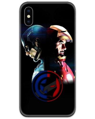 Captain America vs Ironman Face 4D Case