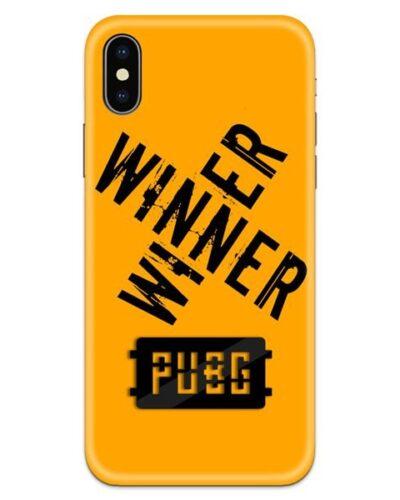 PUBG Winner Winner Black Logo 4D Case