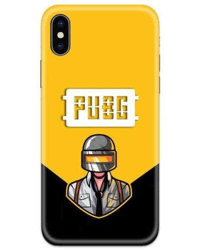 PUBG White Logo 4D Case