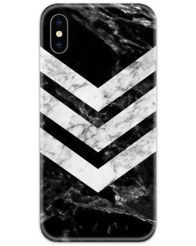 Marble Black Chevron Slim Case Back Cover