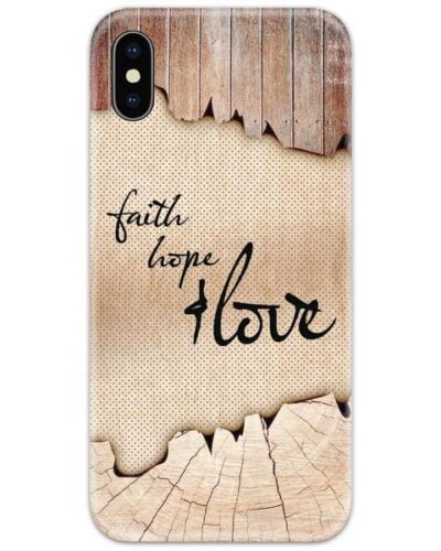 Faith Love and Hope Slim Case Back Cover