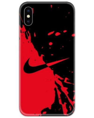 Nike Red Black Slim Case Back Cover