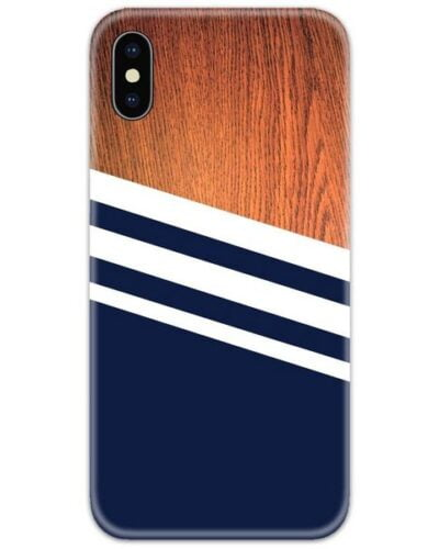 Wooden Blue Slim Case Back Cover