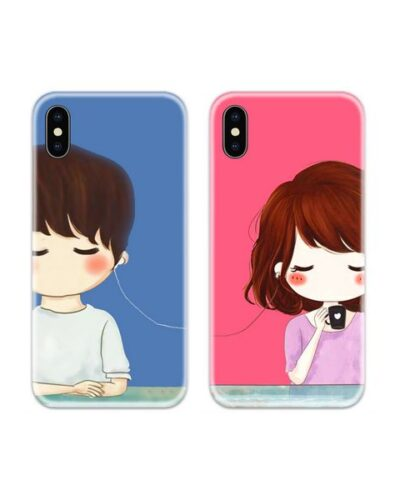 Music Lovers Couple Case Back Covers