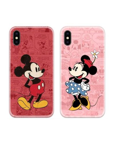 Mickey and Minnie Couple Case Back Covers