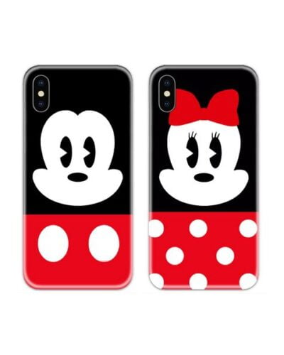 Mickey and Minnie Face Couple Case Back Covers