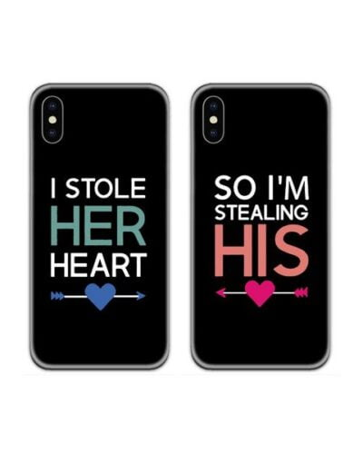 Stealing Hearts Couple Case Back Covers