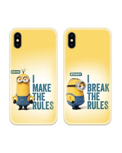 Minion Rules Couple Case Back Covers