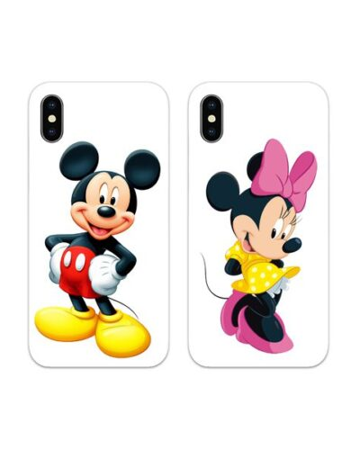 Mickey and Minnie Full Couple Case Back Covers