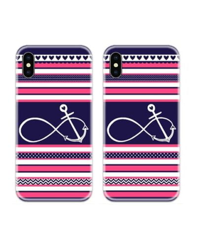 Anchored Infinite Couple Case Back Covers