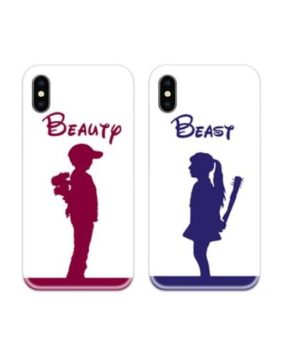 Beaty and Beast Couple Case Back Covers