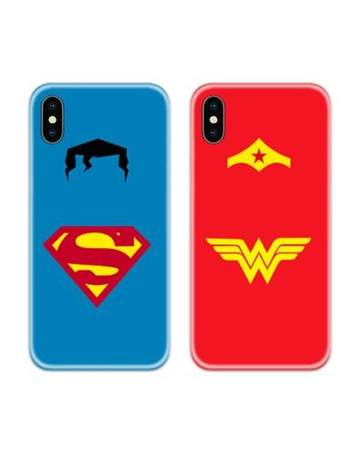 Superman and Wonder Woman Couple Case Back Covers