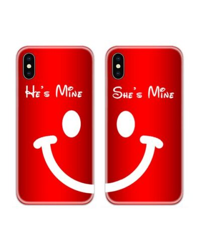 Smile Couple Case Back Covers