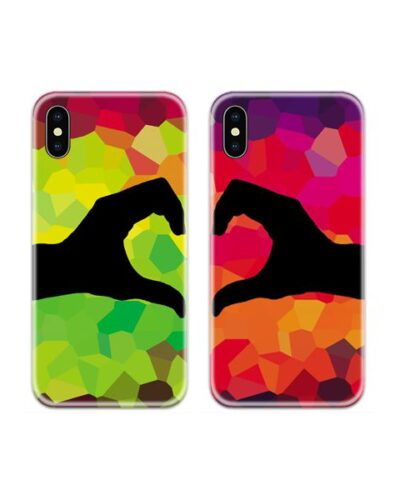 Hand Heart Couple Case Back Covers