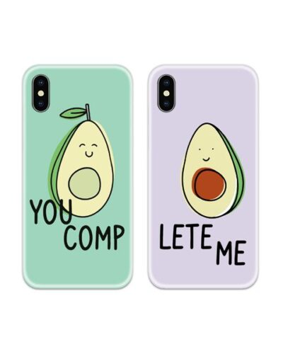 You Complete Me Avocado Couple Case Back Covers