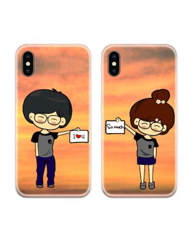 I Love You So Much Couple Case Back Covers