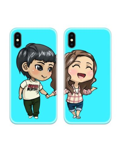 Awesome Cute Couple Case Back Covers