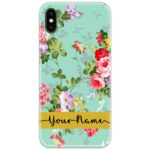 Colorful Floral Black Slim Case Cover with Your Name