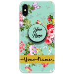 Colorful Floral Slim Case Cover with Your Name Pop Grip