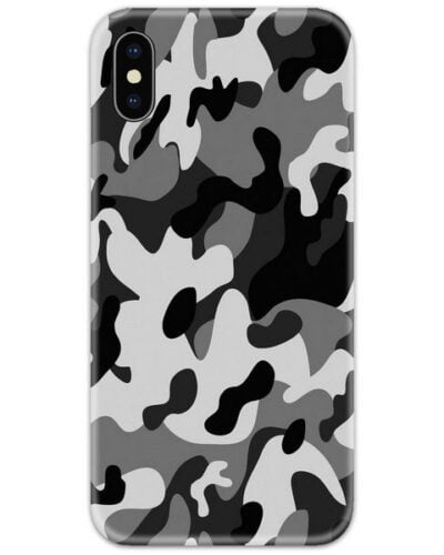 Military Army Camouflage Grey Slim Case Back Cover