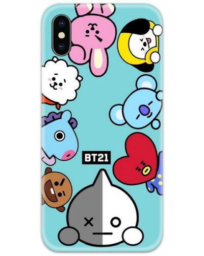 The Cute BT21  Slim Case Back Cover