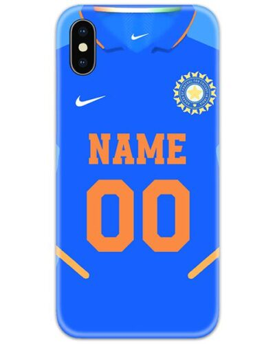 Indian Cricket Blue Jersey Slim Case Cover with Name and Number