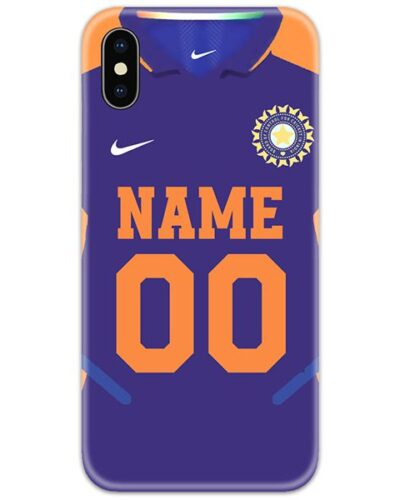 Indian Cricket Orange Jersey Slim Case Cover with Name and Number