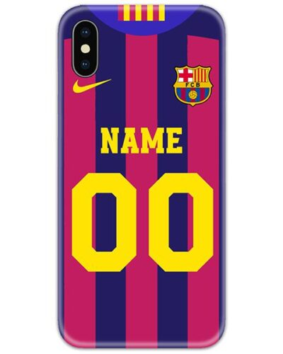 FC Barcelona Home Slim Case Cover with Name and Number