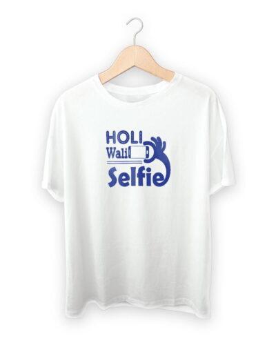 Holi Wali Selfie – Holi Design T-shirt