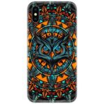 Owl Abstract Art Slim Case Back Cover