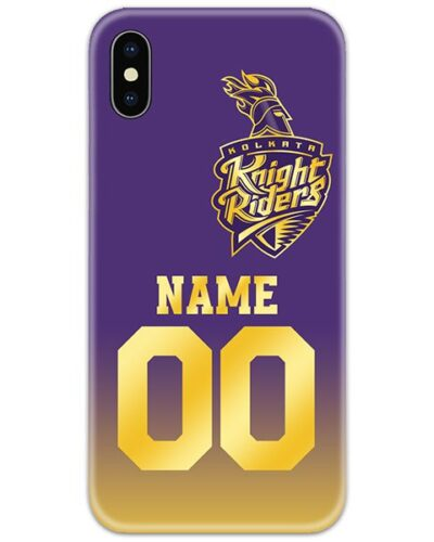 Kolkata Knight Riders IPL Customise Name and Number Case Cover
