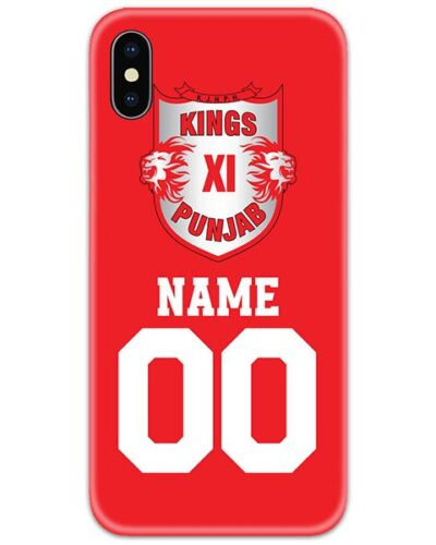 Kings XI Punjab IPL Customise Name and Number Case Cover