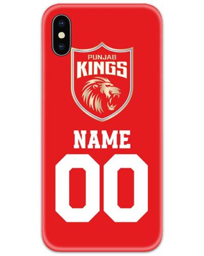 Punjab Kings IPL Customise Name and Number Case Cover