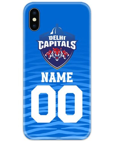 Delhi Capitals IPL Customise Name and Number Case Cover