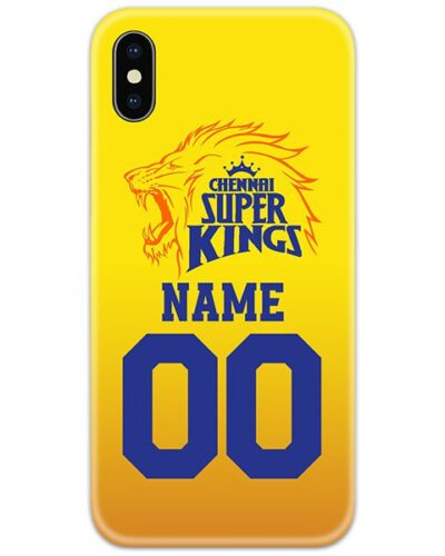 Chennai Superkings IPL Customise Name and Number Case Cover