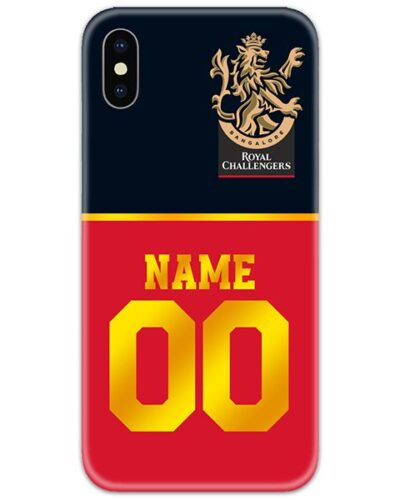 Royal Challengers Bangalore IPL Customise Name and Number Case Cover